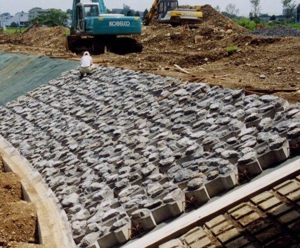 2㎡ストーン自然石埋込み大型張りブロック